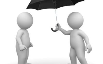 3D Character and Umbrella